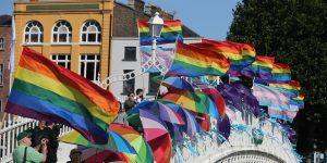 Rainbow flags in Dublin Pride